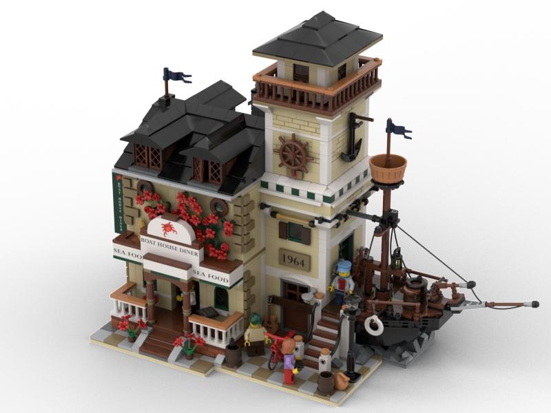 BrickLink Designer Program Boat House Diner