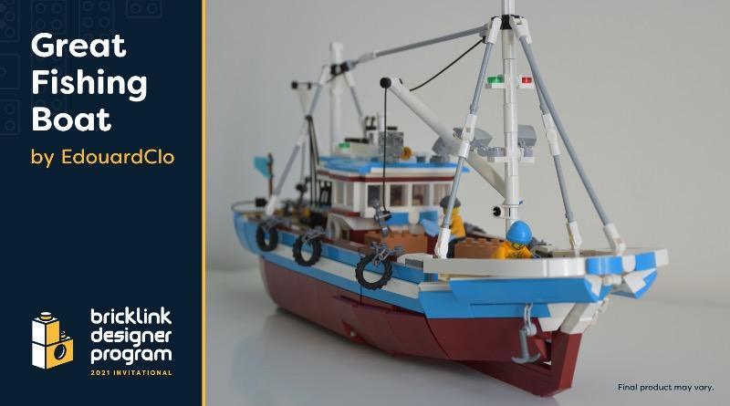 BrickLink Designer Program Great Fishing Boat Featured 1