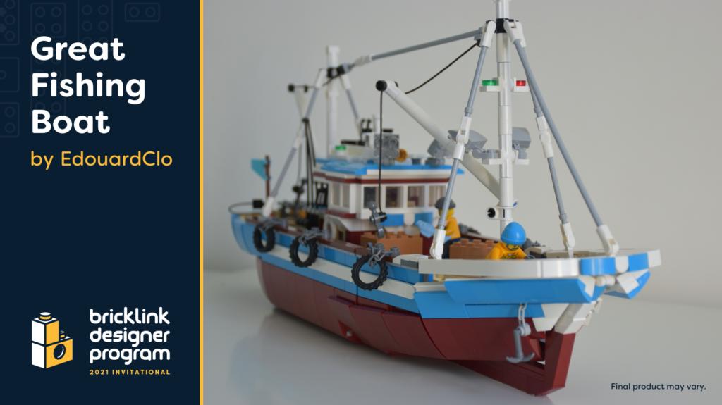 BrickLink Designer Program Great Fishing Boat