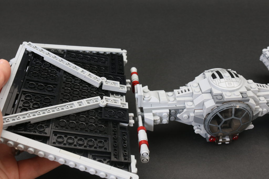 Build A LEGO Mandalorian Outland Folding TIE Fighter 19