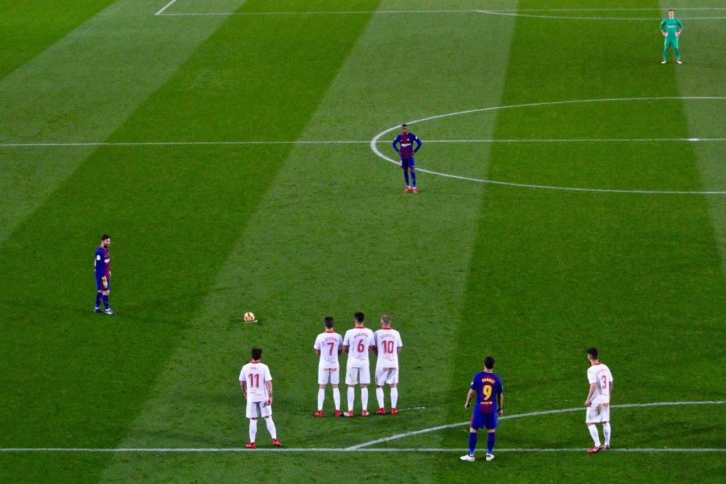 Camp Nou FC Barcelona match free kick