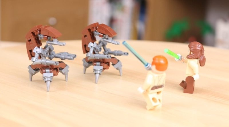 Custom LEGO Star Wars Droideka build 5 featured