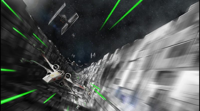 Death Star Trench Run art Mark Molnar featured Star Wars