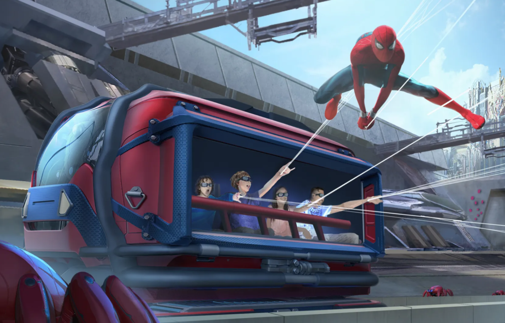 Disneyland Marvel Avengers Campus Spider Man WEB Slingers vehicle