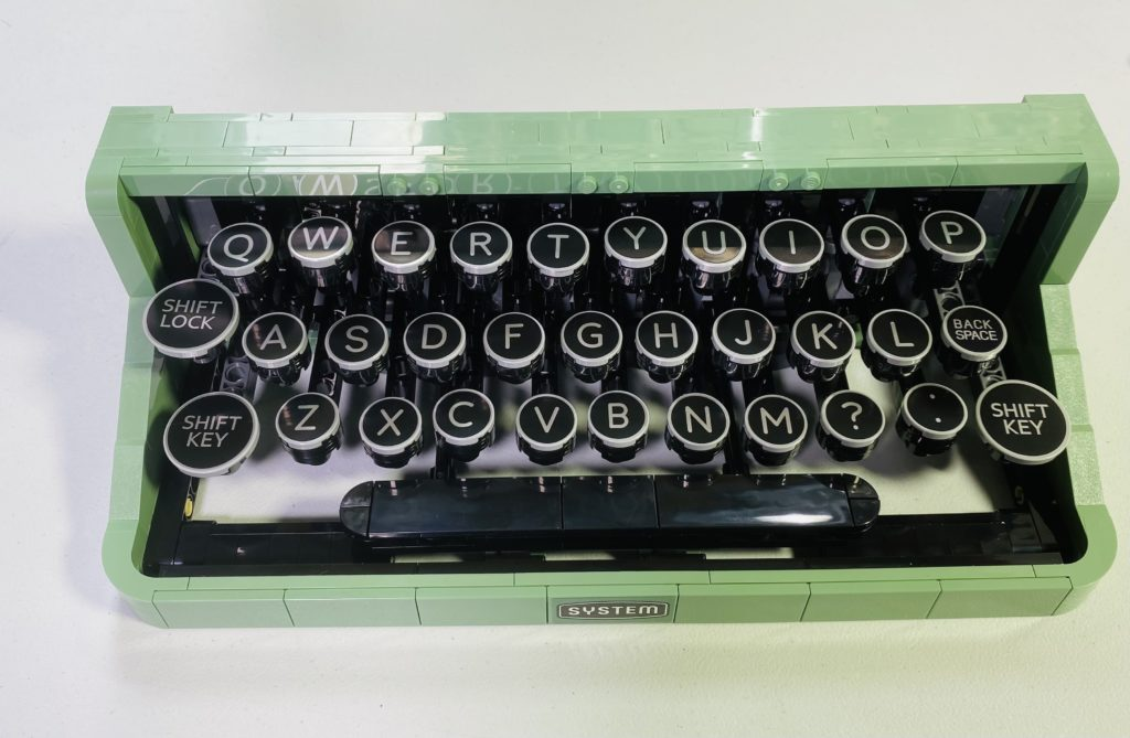 Emma Kennedy LEGO Ideas 21327 Typewriter build