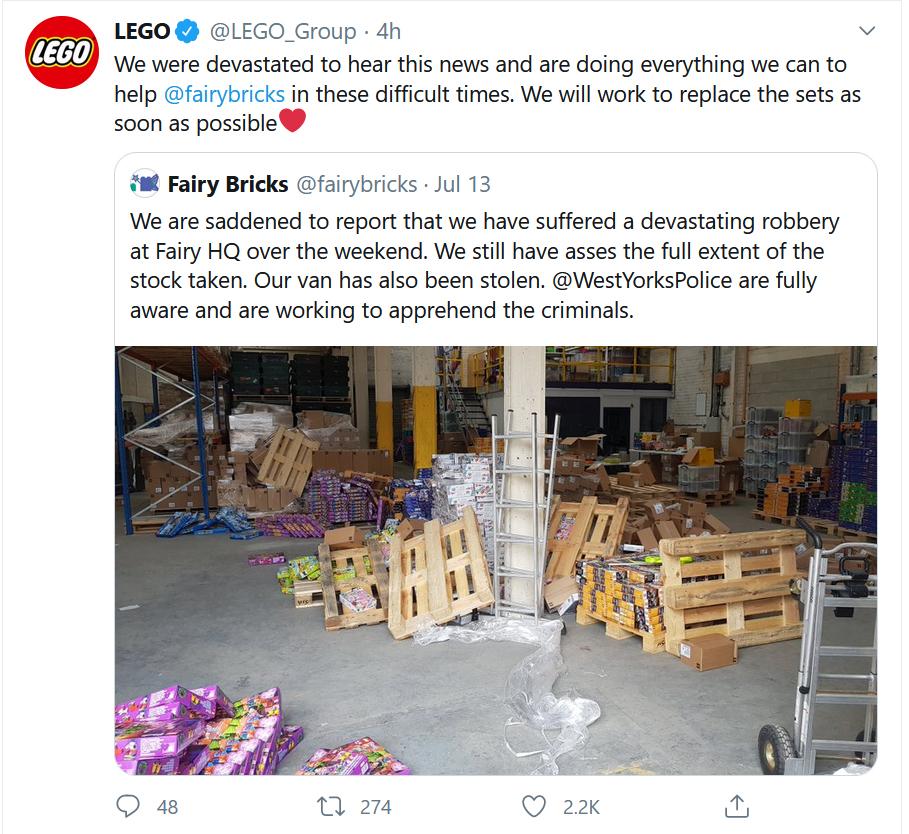 Fairy Bricks Robbery Tweet