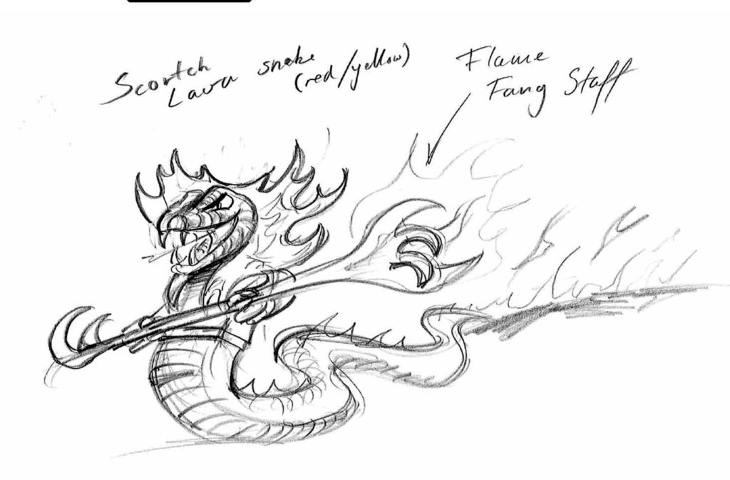 First Sketches Of The 5 Snake Tribes In Rise Of The Snakes Each Tribe Would Have A Different Power Hypnosis Biting Etc.  2012 01