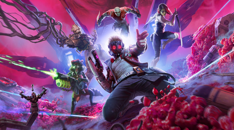 Guardians of the Galaxy game Square Enix cover art landscape