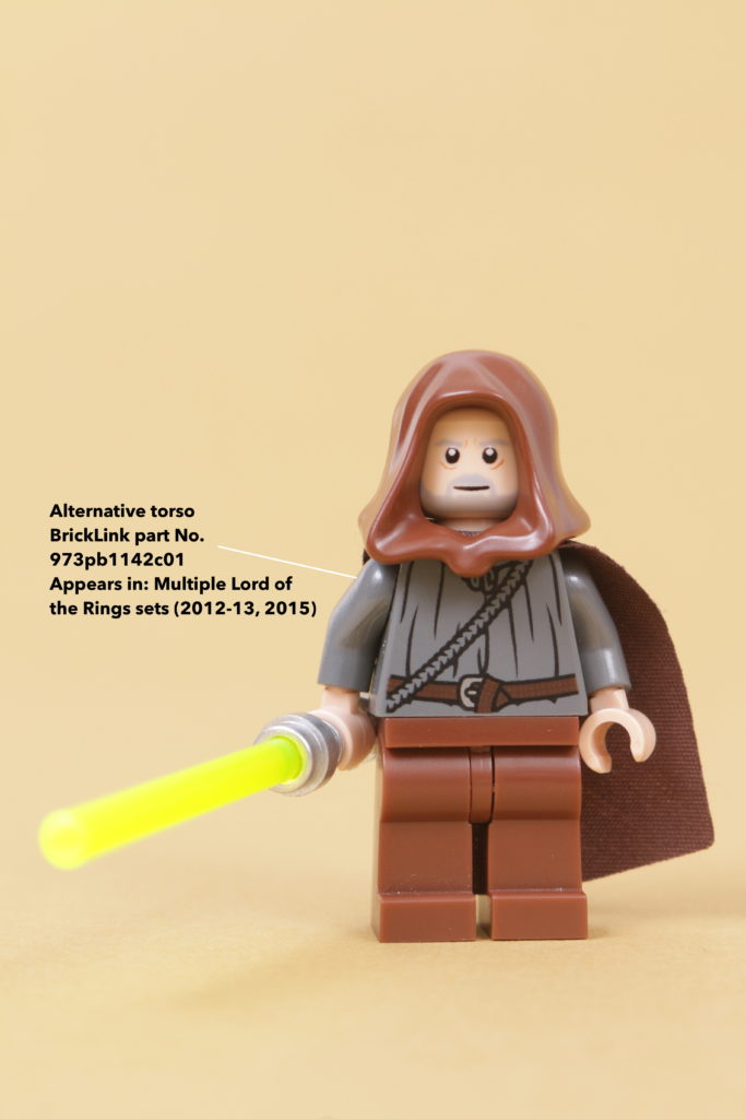 How to build a LEGO Star Wars Jedi Bob 75309 UCS Republic Gunship minifigure 13 annotated