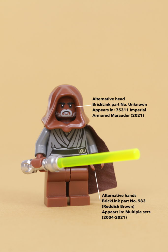 How to build a LEGO Star Wars Jedi Bob 75309 UCS Republic Gunship minifigure 5 How to build a LEGO Star Wars Jedi Bob 75309 UCS Republic Gunship minifigure 12 annotated