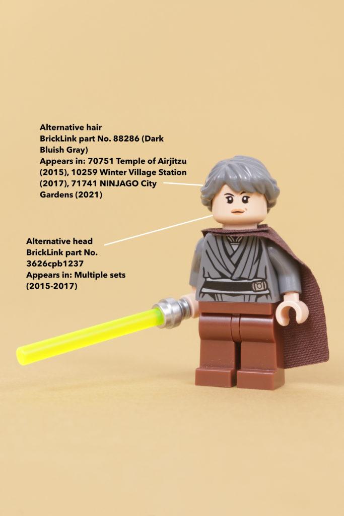 How to build a LEGO Star Wars Jedi Bob 75309 UCS Republic Gunship minifigure 7 How to build a LEGO Star Wars Jedi Bob 75309 UCS Republic Gunship minifigure 12 annotated