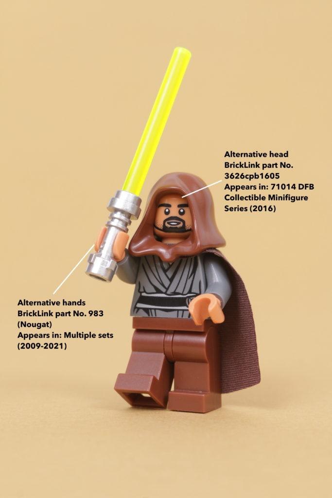 How to build a LEGO Star Wars Jedi Bob 75309 UCS Republic Gunship minifigure 8 How to build a LEGO Star Wars Jedi Bob 75309 UCS Republic Gunship minifigure 12 annotated