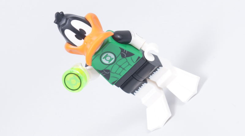 How To Build Your Own LEGO Green Loontern Minifigure Daffy Duck Green Lantern Title