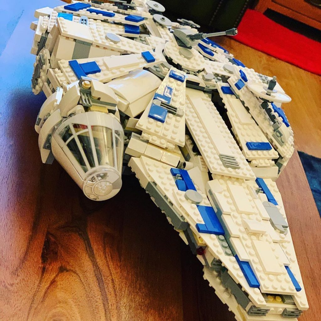 Instagram Jack Shepherd Star Wars LEGO Millennium Falcon