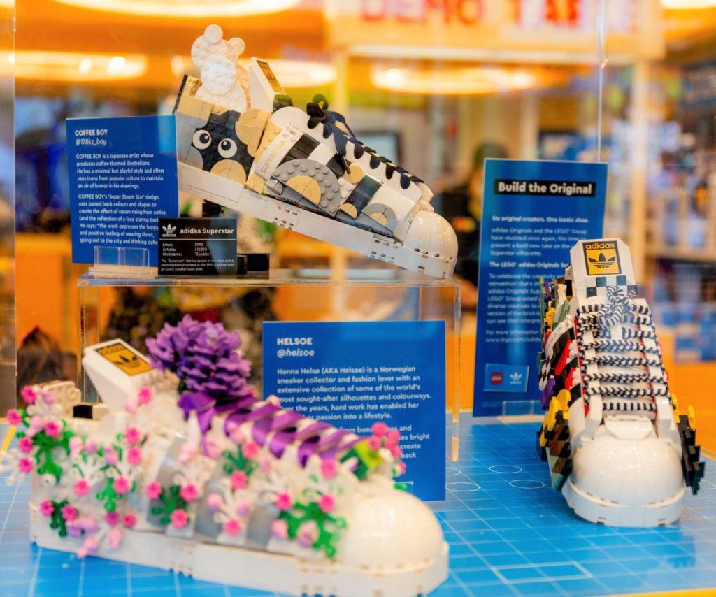 LEGO 10282 Adidas Originals Superstar display personalizzato 1