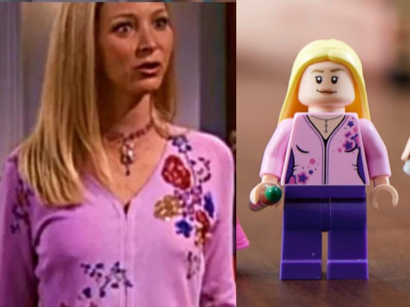 LEGO 10292 Friends Apartments Phoebe Comparison