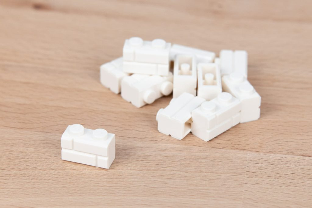 LEGO 1x2 Masonry Brick White