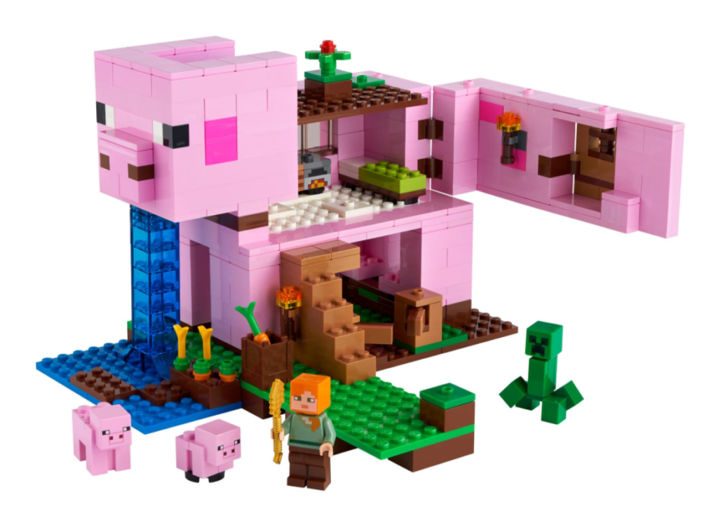 LEGO 21170 Pig House contents view