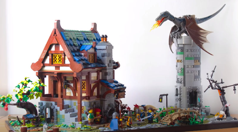 LEGO 21325 Medieval Blacksmith Expansion Build Featured 800x445