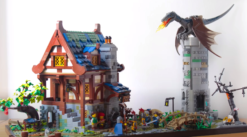 LEGO 21325 Medieval Blacksmith Expansion Build Featured