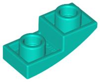LEGO 24201 Slope Curved 2x1 Inverted Teal