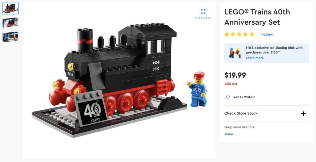 LEGO 40370 Train LEGO.com