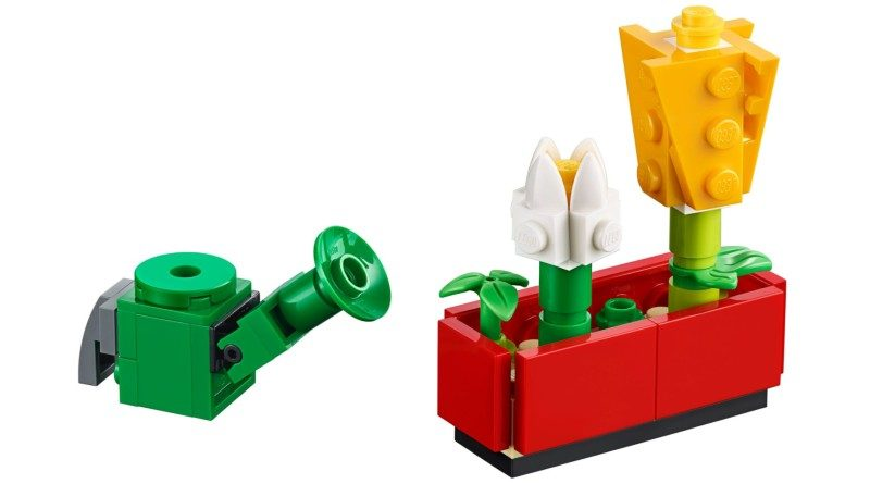LEGO 40399 Flower contents featured