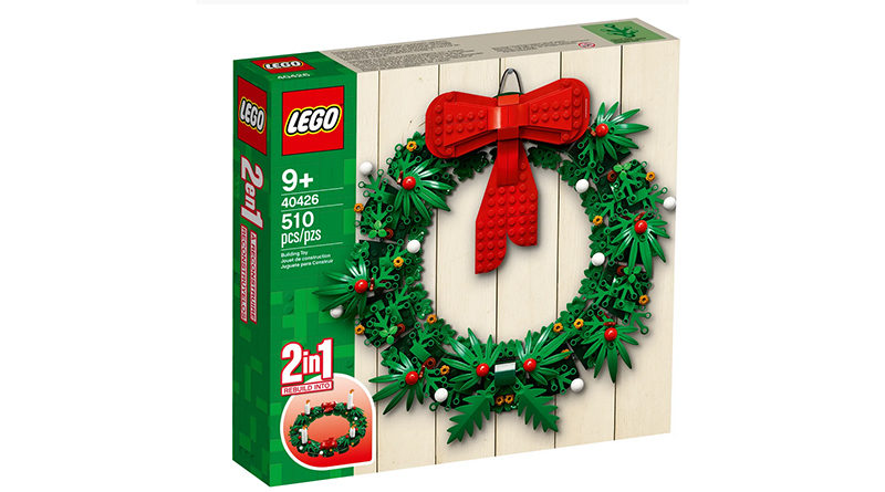 LEGO 40426 Christmas Wreath Featured 800x445