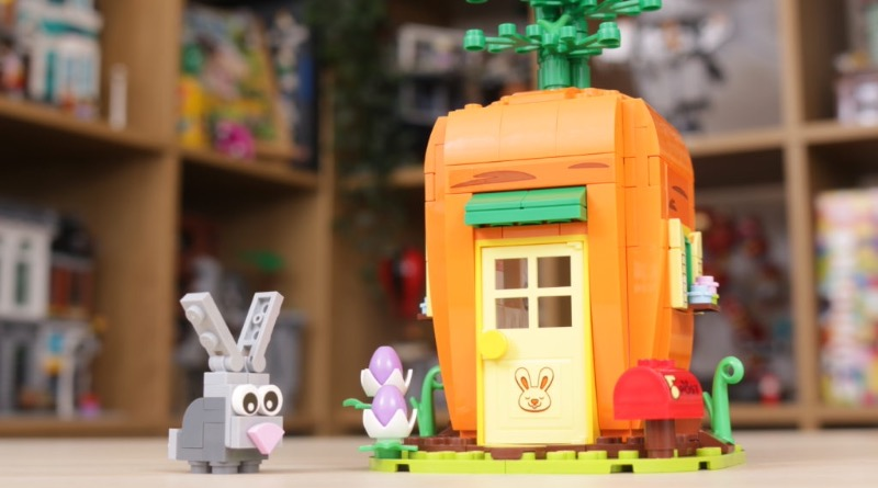 LEGO 40449 Easter Bunnys Carrot House GWP Review Featured 1