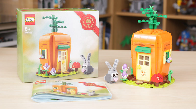 LEGO 40449 Easter Bunnys Carrot House GWP Review Title 800x445
