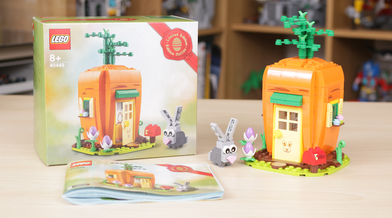 LEGO 40449 Easter Bunnys Carrot House GWP Review Title