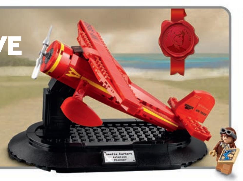 LEGO 40450 Amelia Earhart tribute calendar