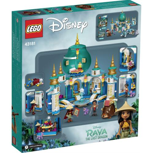 LEGO 43181 Raya And The Heart Palace Box Back