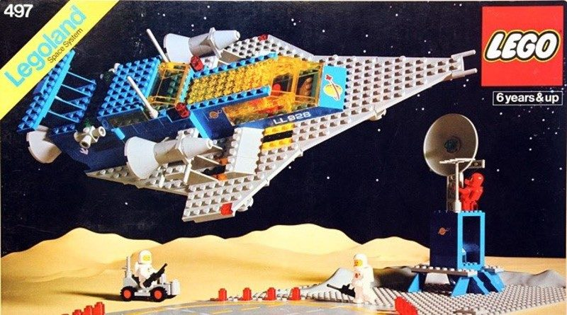 A LEGO designer is recreating box art of classic LEGO sets in hand-drawn artworks