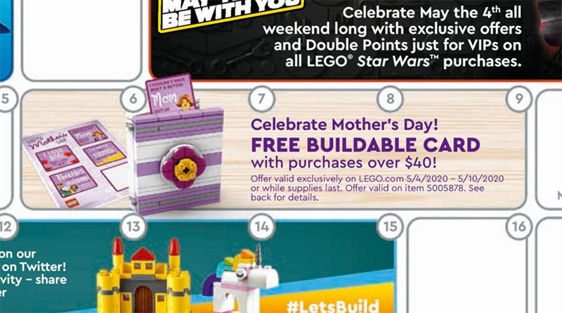 LEGO 5005878 Mother's Day Card