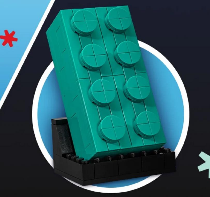 LEGO 5006291 2 4 Teal Brick