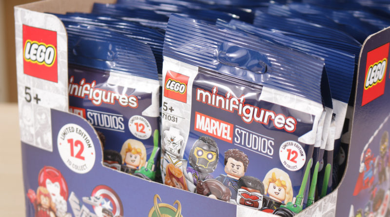 LEGO 71031 Marvel Collectible Minifigures review box distribution guide title
