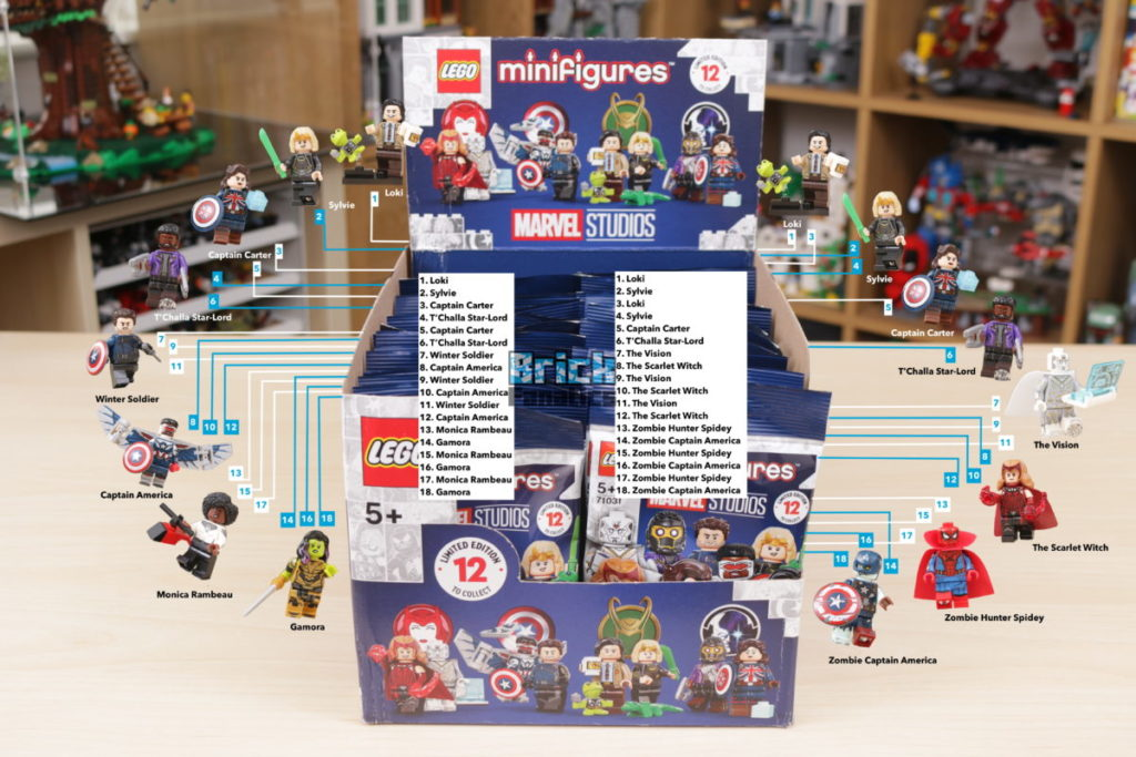 LEGO 71031 Marvel Collectible Minifigures review box distribution guide watermarked