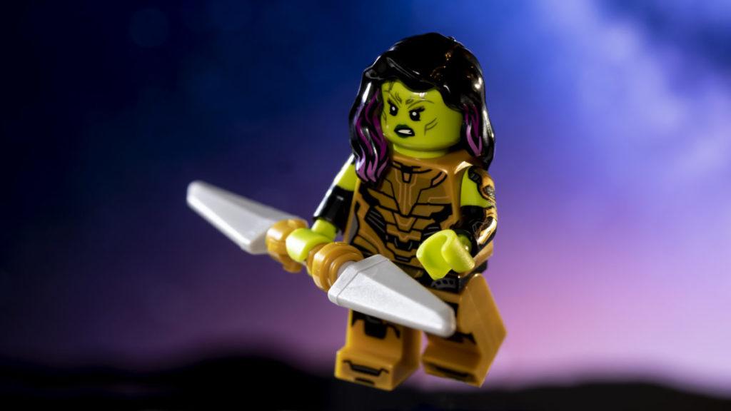 LEGO 71031 Marvel Studios Gamora with the Blade of Thanos action shot 2