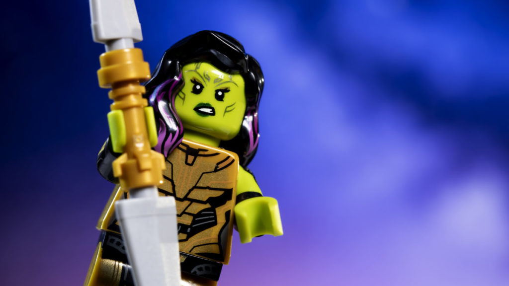 LEGO 71031 Marvel Studios Gamora with the Blade of Thanos action shot 3