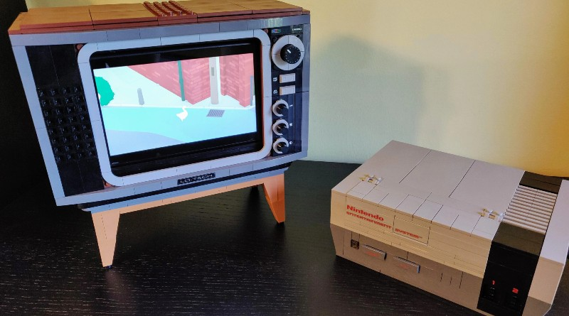 LEGO 71374 Nintendo Entertainment System Switch Stand Featured