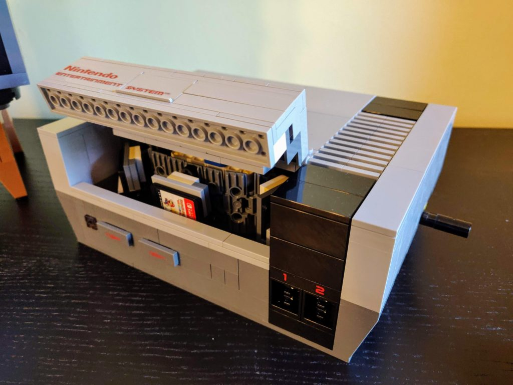 LEGO 71374 Nintendo Entertainmeny System switch stand 1