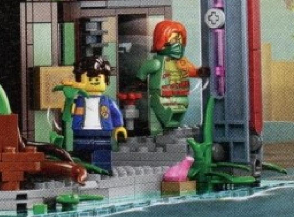 LEGO 71741 NINJAGO City Gardens Pink Frog 1024x755