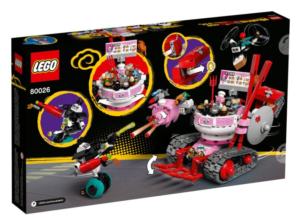 LEGO 80026 Pigsys Noodle Tank box back