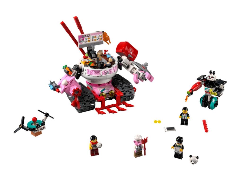 LEGO 80026 Pigsys Noodle Tank contents