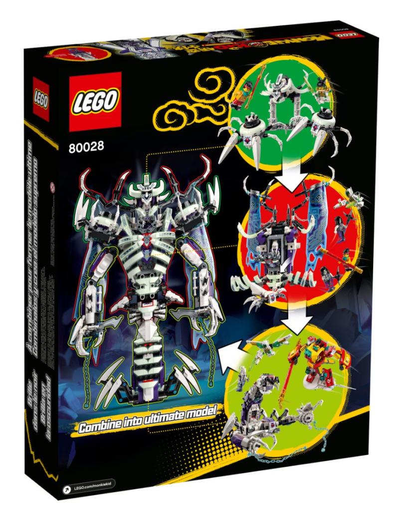 LEGO 80028 the Bone Demon box back