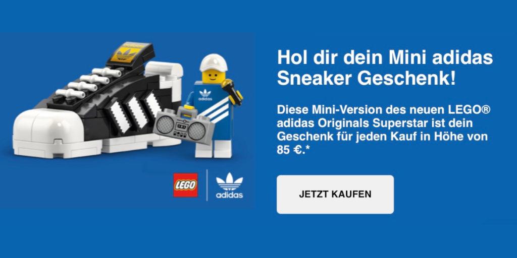 LEGO Adidas 40486 Adidas Originals Superstar GWP German newsletter threshold