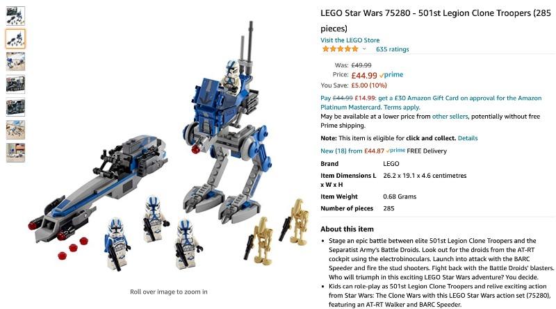 LEGO Amazon Black Friday 501st Featured