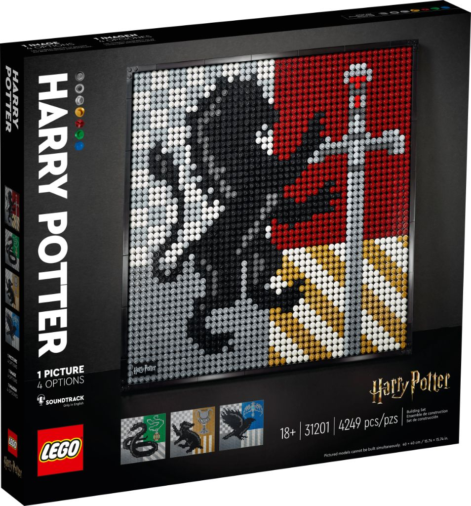 LEGO Art 31201 Harry Potter Hogwarts Crests 1