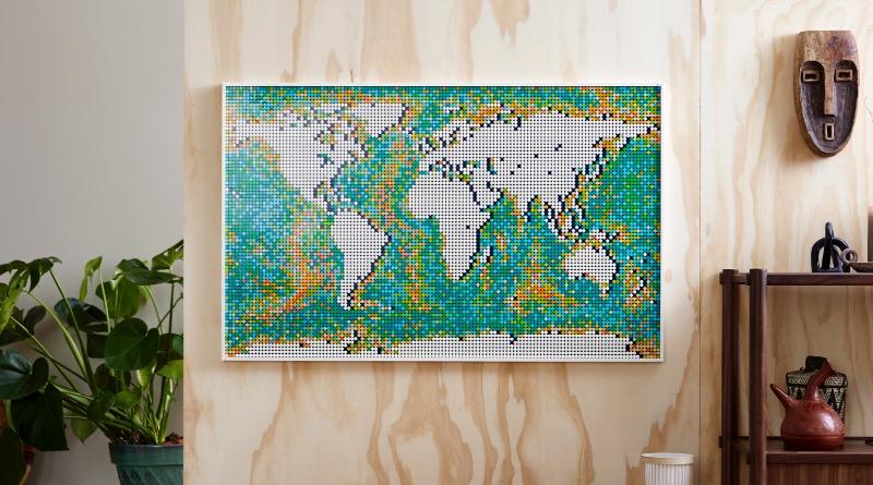 LEGO Art 31203 World Map Featured 4
